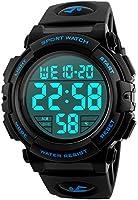 Herren Digitale Armbanduhr, Outdoor Laufen 5 Bar wasserdichte militärische Uhren, Cool Sport große Anzeige LED Sportuhr...