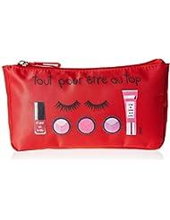 Incidence Paris 61503 Trousse à Maquillage Tout pour Être au Top, 20 cm, Rouge