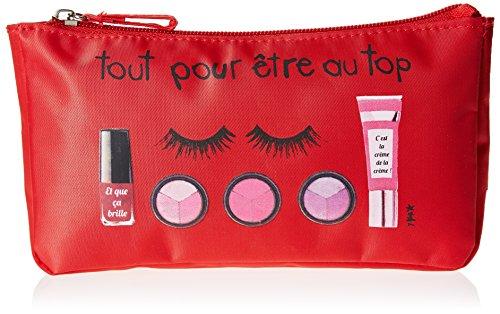 Incidence Paris Pochetta per trucchi, rosso (Rosso) - 61503
