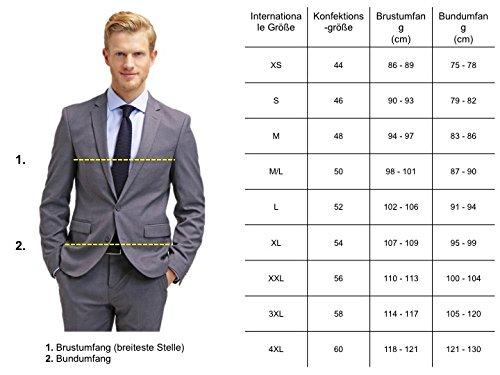 finest selection f2d8c 7ce51 Pier One Anzug Herren Slim Fit Blau/Schwarz/Grau Business Herrenanzug Größe  46-54 Kombination aus Sakko & Anzug-Hose