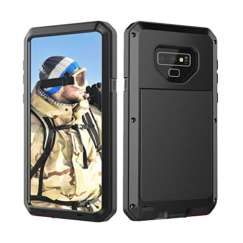 Beeasy Samsung Galaxy Note 9 Hülle,Outdoor Handyhülle 360 Grad Handy Case Schutzhülle Robust Tough Armor Doppelte Schutzschicht Fallschutz Hybrid Rüstung Schlagfest Stoßfest Kratzfest Bumper,Schwarz