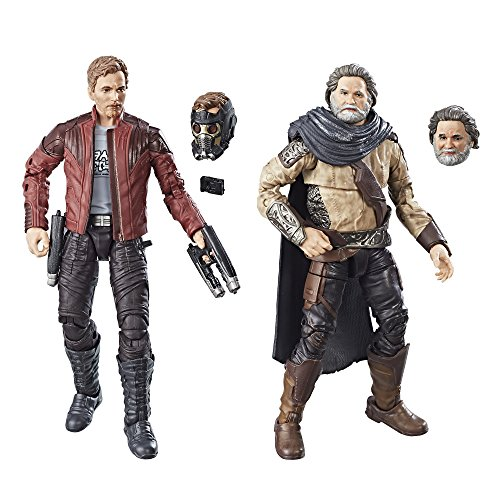 Marvel Legends Exklusiv: Guardians of the Galaxy - Star Lord & Ego (2 Packung) 15cm Action Figur