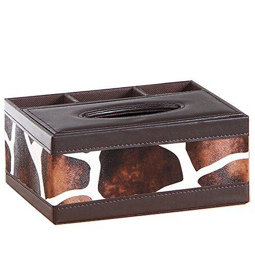 Multifunktions Tissue Halter Schreibtisch Organizer vielleicht 3Fächern PU Leder Fernbedienung Halter 20*16.5*9.5cm kuh