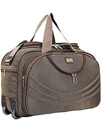 alfisha Unisex Synthetic Lightweight Waterproof Luggage Travel Duffel Bag with Roller Wheels (Gala Red, AFB-DUF-16)