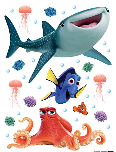 AG Diseño DKS 1097 Disney findet Dory, pegatinas de pared, 30 x 30 cm – 1 notebook, papel, Colorful, 30 x 30 cm