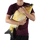 GOTOTOP Plüsch Fisch Kissen Kuscheltier Fisch Katzespielzeug Fisch 3 Grössen Fisch Form Kissen für Haustier Kätzchen (80CM)