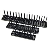 BERGEN 3 Pce Socket Storage Rack Tray for 1/4, 3/8, and 1/2 inch Sockets BER0947