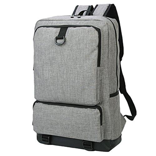 ZKOO Damen & Herren Leinwand Rucksäcke Canvas Rucksack Backpack Freizeit Schüler Buch Taschen Laptoprucksack Reiserucksack Grau