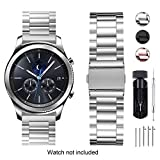 Fullmosa Bracelet Compatible avec Huawei Watch/ASUS Zenwatch 2 1.45'/Withings Steel HR (36mm)/LG Watch Style,18mm Bracelet Smart Watch pour Homme Femme, Argent Noble