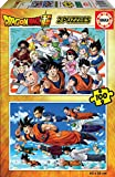 Educa Borrás-2X100 Dragon Ball Puzzle Color Variado 18214