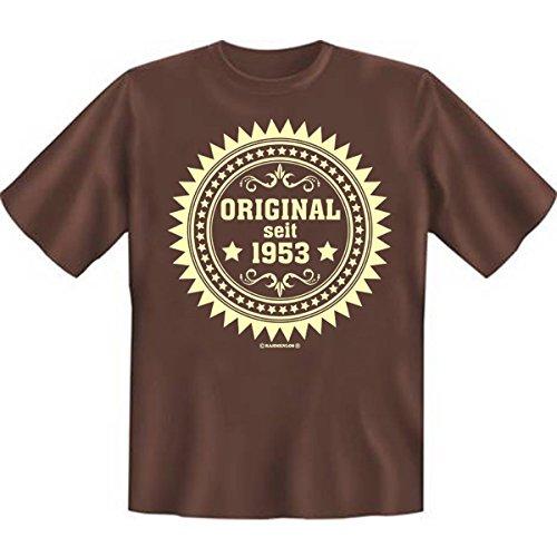 Original seit neunzehnhunderdreiundfünfzig 1953 Set Goodman design® Formbeständiges Shirt, tolle Optik Gr: Farbe: braun Braun