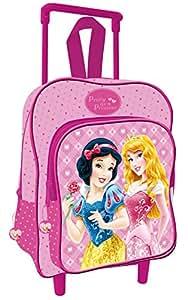Cartable Fille Princesses : Sac à dos roulettes 40cm Primaire et Maternelle