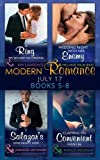 Modern Romance Collection: July Books 5 - 8: A Ring to Secure His Crown / Wedding Night with Her Enemy / Salazar's One-Night Heir / Claiming His Convenient Fiancée (Mills & Boon Collections)