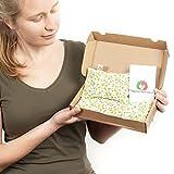PACK DUO  2 KÖRNERKISSEN ANTI KOLIK für BABY 15X10 cm Baby Geschenke Wärmetherapie Weizensamen und Lavendelblüten Handgemacht 100% Baumwolle ST10