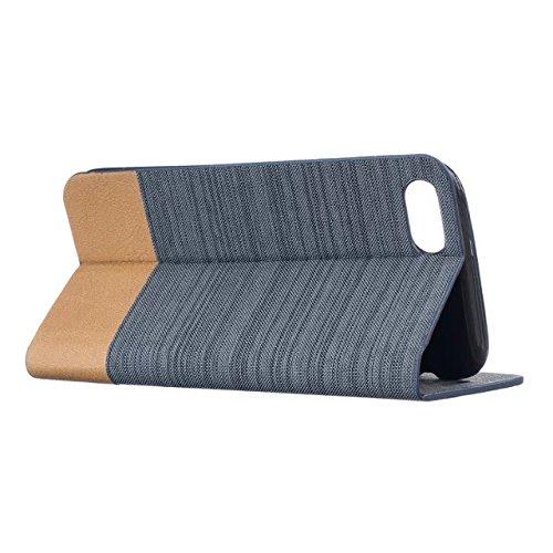 Mixed Canvas Canvas Collection Case Premium PU Leather Case Portefeuille Stand Flip Stand Shell de protection pour IPhone 7 Plus 5.5 pouces ( Color : 2 , Size : IPhone 7 Plus ) 4