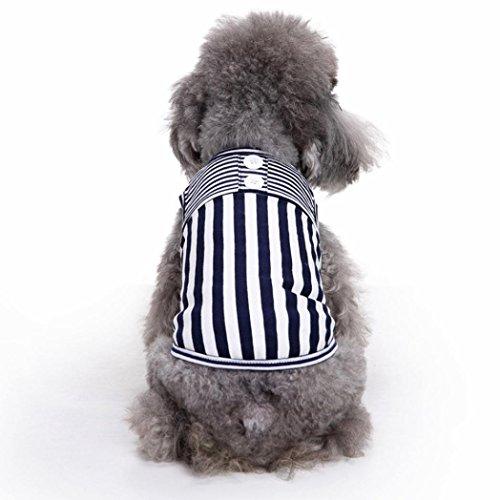 Ninasill ღ ღ Pet Hund Hunde/Welpen Classic Weste T-Shirt Kleidung Gestreift Weste Bekleidung Casual Medium Schwarz