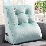 LXZ#Homegift Rückenlehne Einfarbig Bett Kissen Wedge Sofa Großen Rücken Bett Prinzessin Stil Kissen Einzigen Taille Kissen (Farbe : Grün, Größe : 55cm*30cm*45cm)