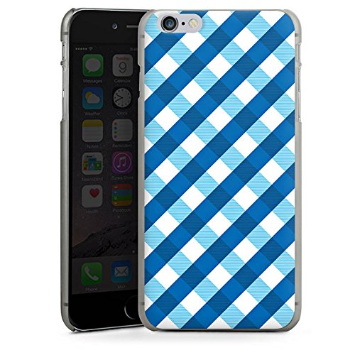 Apple iPhone 5s Housse Étui Protection Coque Carreau Bleu Bleu CasDur anthracite clair