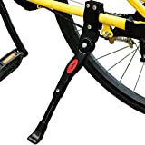 Lictin Adjustable Aluminum Alloy Bicycle Kickstand, Adjustable Bike Side Replacement Kickstand for Bike 22''-27'', Black
