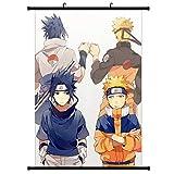 AMA-StarUK36 Naruto Poster en tissu Motif Naruto Anime Personnage Uchiha Itachi Sasuke