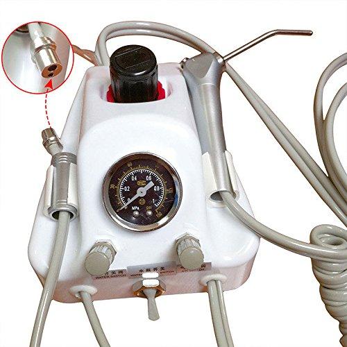 bonew Dental Tragbare turbineneinheit Luft Wasser Spritze Kompressor W/Flasche 2Löcher B2