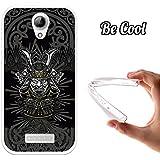 Becool® - Funda Gel Flexible para Doogee X3, Carcasa TPU fabricada con la mejor Silicona, protege y se adapta a la perfección a tu Smartphone y con nuestro exclusivo diseño. Cabeza de Samurai Cabeza de Samurai