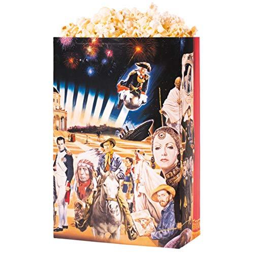 Heimkino Kunst Popcornschachtel - XXL Grösse 5 - Kino Cinema Art Original Deko Dekoration Popcorntüte Tüte Tüten Hollywood Motiv (10 Stück) (Fan-heimkino)