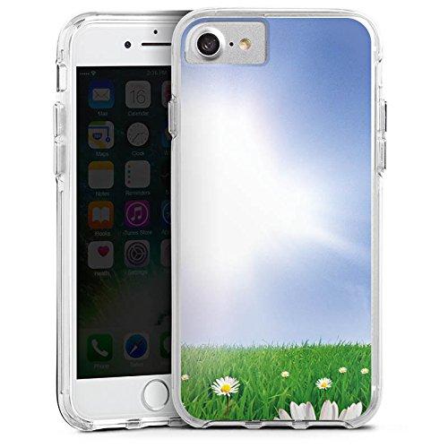 Apple iPhone 6 Bumper Hülle Bumper Case Glitzer Hülle Daisy Blumenwiese Sun Bumper Case transparent