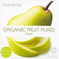 Clearspring orgánico pera puré de 2 x 100 g
