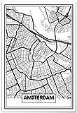 Panorama® Poster Karte von Amsterdam 21 x 30 cm | Gedruckt
