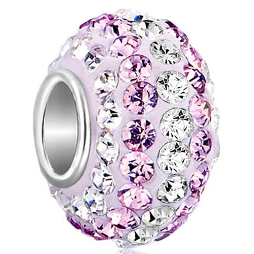 Pugster Sale Sterling Silver 925 Clear Austrian Crystal Charms Birthstone Beads Fit Pandora Bracelet lUKLeO