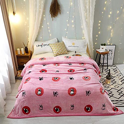 Fleece Wurfdecken Super Soft Fluffy Warm Solid Bed wirft für Sofa Luxus Mikrofaser Decke Gründungshund König Größe 200 x 230 cm ()
