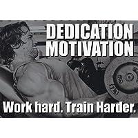 De motivación - arnold schwarzenegger 16 - trabajo duro, entrenar más - gimnasio - determinación - A3 poster - muestra wallkraft Póster ktrade, deportes, boxeo, ciclismo, atletismo, rizoide, triatlón, baloncesto, fútbol, RUGBY, la natación, Boxeo, Artes marciales, GOLF, HOCKEY, SQUASH