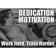 De motivación - arnold schwarzenegger 16 - trabajo duro, entrenar más - gimnasio - determinación