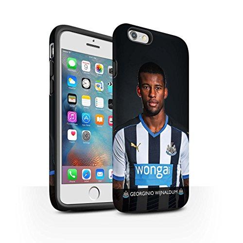 Officiel Newcastle United FC Coque / Matte Robuste Antichoc Etui pour Apple iPhone 6S+/Plus / Pack 25pcs Design / NUFC Joueur Football 15/16 Collection Wijnaldum