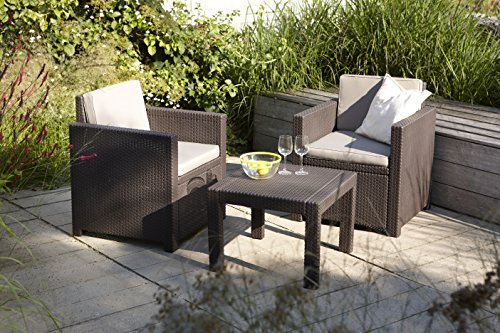 Allibert Lounge Set Victoria Balcony, Braun, 3-teilig - 4
