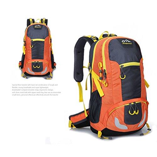 Pathfinder Pionier im Freien Rucksack Bergsteigen Tasche Berg Tasche aus wasserdichtem Nylon-Verschl¨¹sselung Orange