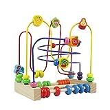 Motorikschleife Holzspielzeug Motorikwürfel Labyrinth Spiel Beads Maze Motorikspielzeug Abakus Spielzeug Für Kinder ab 3 4 5 6 Jahren