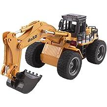 deAO RC Camión de Construccuón Teledirigido con 2.4GHz Sync System para Modo Multi Jugador (Camión Excavador)