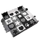 YUEBO Puzzle Tapis Bebe Tapis en Mousse pour Enfant Ramper Tapis Puzzle de Sol 40 Tuiles Mousse de Sol Tapis de Jeu Bebe