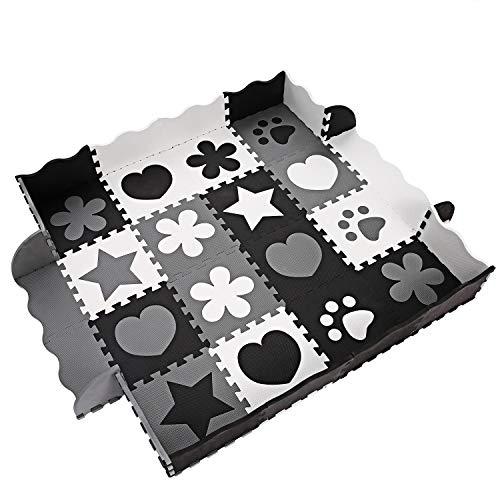 OUTCAMER Spielmatte Baby Puzzlematte eco Krabbelmatte Puzzle Schaumstoffmatte Kinder Matte für Baby 40 Stücke