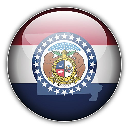 Missouri USA State Glossy Seal Auto-Dekor-Vinylaufkleber 12 X 12 cm -