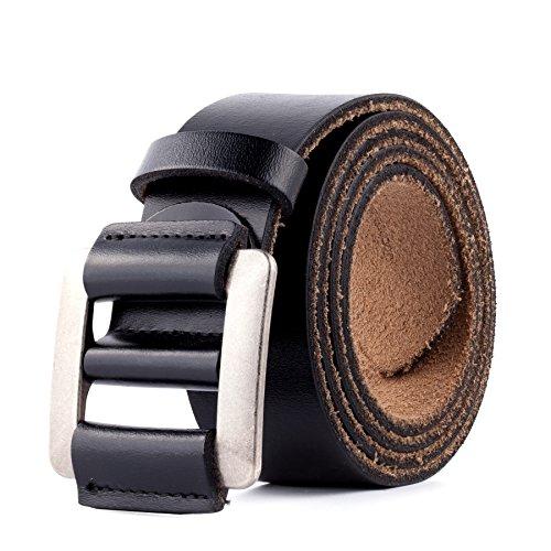 Modernes Design Luxury Full Grain Leather Mens Belt Black small