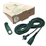 Spar-Set, 10 Staubsaugerbeutel + 1 Kabelhalter + 10 Meter Kabel VK 130 geeignet für Ihren Vorwerk Kobold 130 / 131