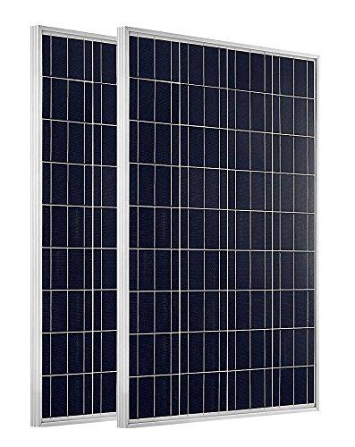 200 Wohnmobil Solar-panel Watt (ECO-WORTHY 200W 2 Stücke 100W 12v Solarmodul Polykristallin Solarpanel Photovoltaik Solarzelle Ideal zum Aufladen von 12V 24V Batterien)
