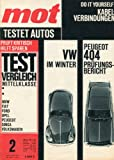 'MOT - testet Autos' Heft 2/1964, Tests (Peugeot...