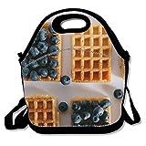 Custom Sac à déjeuner pique-nique étanche Sac isotherme Cooler Zipper Box, Close Up Nourriture fraîcheur One size berries blueberry close up8