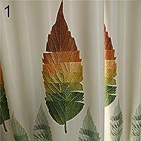 fEpignibkx 100x250cm Leaves Blackout Window Curtain Living Room Hotel Drape Bedroom Blinds - 1