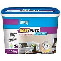 Knauf EasyPutz Schnee-Weiß, 10-kg Rollputz fein innen, mineralischer Innenputz mit hohem Mamoranteil, atmungsaktiver Putz für gesundes Raumklima, 0,5-mm Körnung