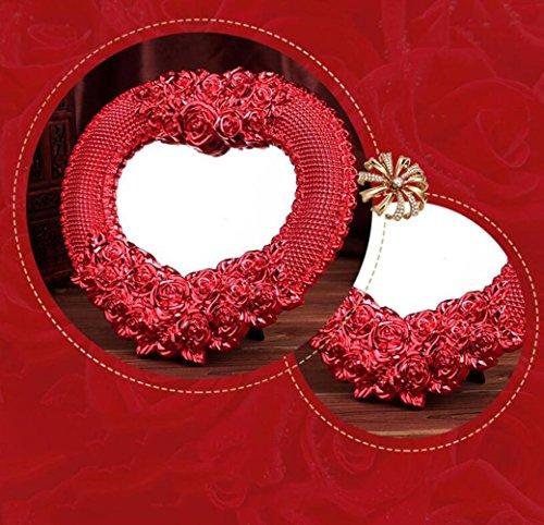TT&HUNLI (2PCS) Forniture di nozze / Dote sposa / Specchio rosso hi / Specchio per trucco in plastica / Specchio da tavolo , heart heart